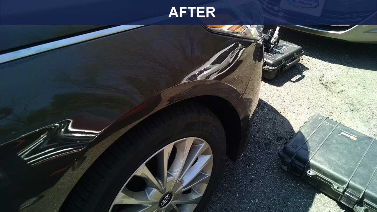 AFTER Dent removal front fender