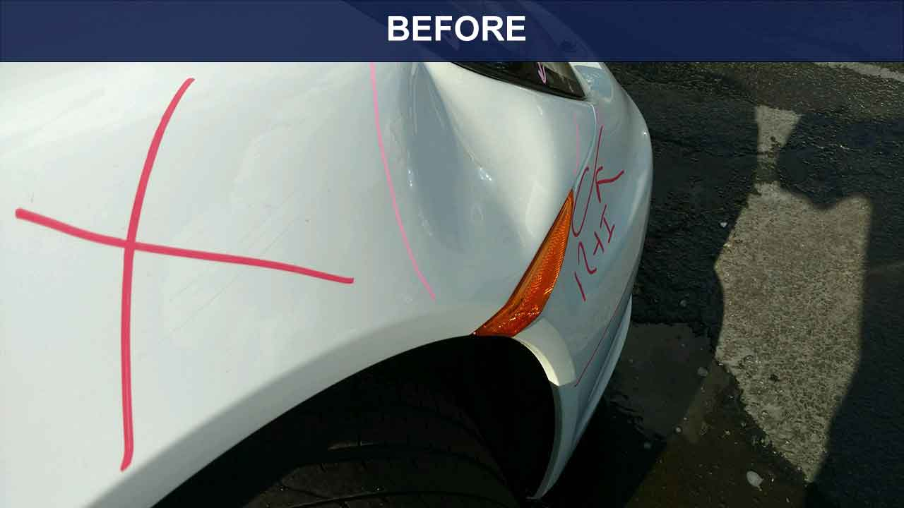 Porche-front-fender-before